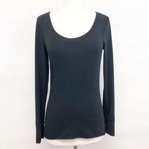 lululemon | scoop neck basic long sleeve tee shirt